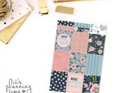 Midnight Floral Decorative Full Box Planner Stickers