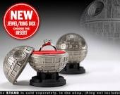 Death Star Ring Box - proposal ring box, engagement ring box, star wars, ring case, wedding, marriage, matrimony, bridal, nuptials, geek box
