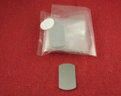 """Clearance - 3/4"""" x 1 1/4"""" Small Dog Tag Aluminum Stamping Blanks, 14 Ga Thick, 1100 Aluminum, 10 Pieces"""