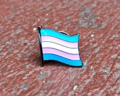 Transgender (LGBTQ) Pride Flag Silver-Back Pin for Lapels, Shirts, Backpacks, Hats, etc...
