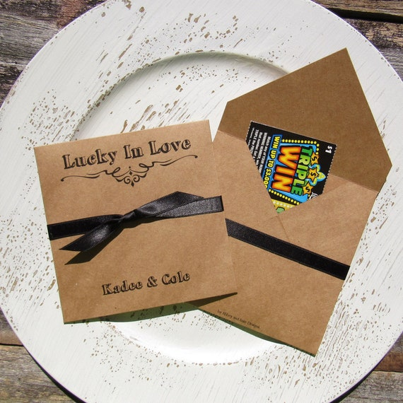 Rustic Wedding Favors Lottery Favors Rustic Wedding Decorations