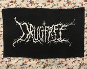 DRUGFREE BLACKMETAL PATCH or death metal if you wanna split hairs either way we know it's not pop punk