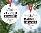 just married ornaments personalized ornaments first christmas