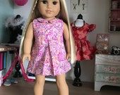 "18"" , 18 inch doll clothes- Pretty  Abby road A line dress in pinks."