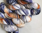 Peachface Fingering 'Iris' Hand Dyed Yarn