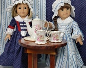 Reserved for Penny, Two Colonial Girl Dress Sets, One Kinsale Cloak, American Made to Fit 18 Inch Girl Doll