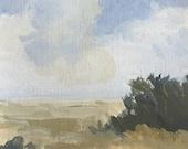 original landscape painting acrylic painting on paper small landscape painting pamela munger
