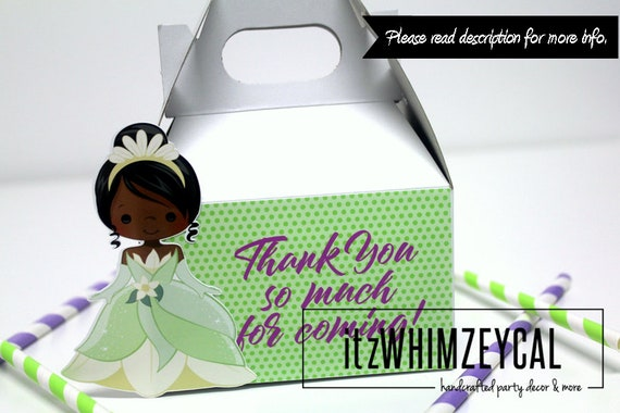 Tiana Party Favors Princess Party Decoration Birthday Party