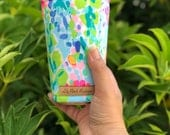 Lilly Pulitzer Inspired Iced Coffee Cozy, Coffee Cozy, Cup Cozy, Cup Sleeve, Coffee Cuff, Caffeine Cuff