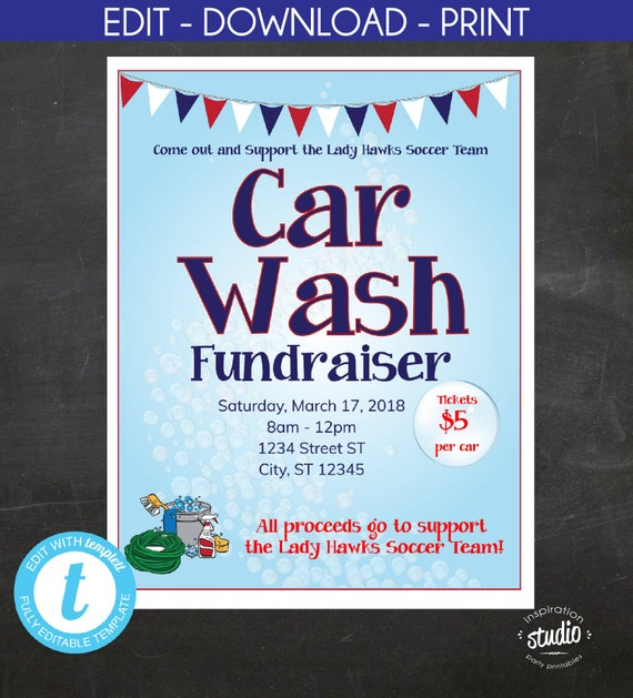 car wash fundraiser flyer school flyer church flyer sport flyer