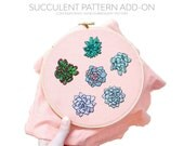 ADD-ON July Succulents Contemporary Hand Embroidery Pattern PDF by Sarah K. Benning - #skbdiy