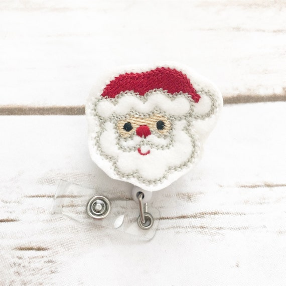 nurse badge reel christmas badge reel santa badge reel nurse