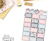 Midnight Floral Half Box Planner Stickers