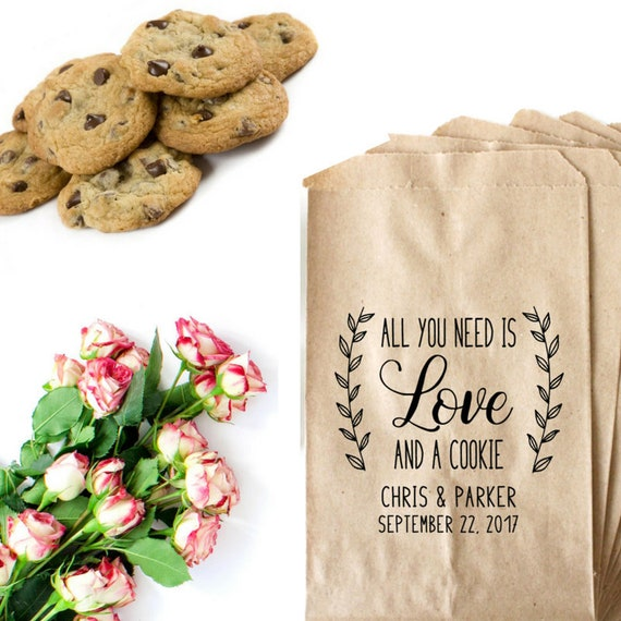 All You Need Is Love And A Cookie Stamp - Wedding Cookie Bags ...