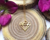Kette vergoldet Diamant