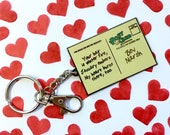 IT Stephen King - My Heart Burns There Too - IT Keychain - Stephen King Keychain - IT Movie - Stephen King Fan - Stephen King Keyring