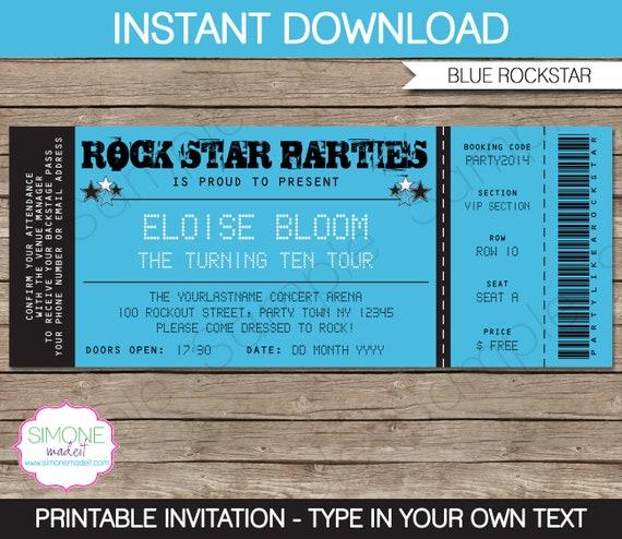Rockstar invitation template karaoke invitation birthday party il570xn stopboris Choice Image