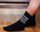 Personalized 2nd Wedding Anniversary Socks - 2 Years Down Forever to Go,  Cotton Wedding Anniversary Gift, Cotton Anniversary Gift for Him