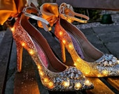 Born To Be Wild, glitter light up shoes.