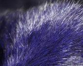 VTG Night Blue/Blackish Genuine Real Fox Fur Trim Piece