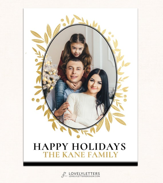 Gold foliage christmas card digital christmas card printable il570xn m4hsunfo