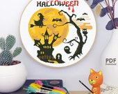 SHP28_Hello Halloween__cross stitch pattern PDF
