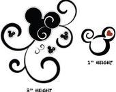 Mickey Tattoos, two sets of three, 6 tattoos total