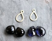 Custom listing Black Spinel and Iolite earrings