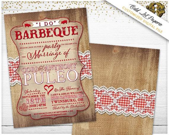 Backyard Wedding Invitation: Backyard BBQ Invitation