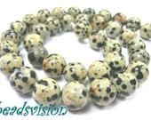 6/8/10 mm Dalmatian jasper 1 strand Beads