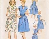 1970s Simplicity 6341 Womans Wrap Dress Keyhole Neckline Sewing Pattern Walk Away Plus Size  Bust 45 47 UNCUT FF