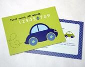 8 x Einladung Kindergeburtstag Auto