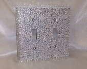 Rhinestone Double Light Switch Cover