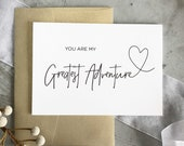 You Are My Greatest Adventure Wedding Card, Groom Gift From Bride, Groom Gifts, To My Husband On Our Wedding Day, Husband Gift, Husband Gift
