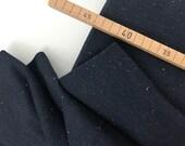 Sweatstoff Bauwolle Konfetti Sprenkel, denimblau
