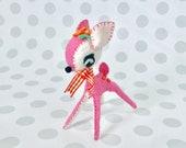 Bubblegum Pink / Darling Deer Blythe Pet Felt Plush Animal