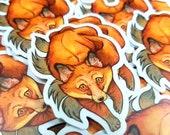 Kitsune Fox Vinyl Die Cut Sticker