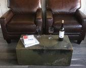 WWII U.S. Army Footlocker, Military Foot locker, Storage Trunk, War Trunk, Wooden Box, Coffee Table Trunk with Tray