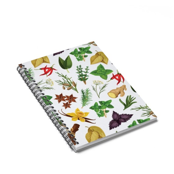 Herbs and spices journal food recipe notebook kitchen journal il570xn forumfinder Image collections