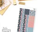 Midnight Floral Decorative Washi Planner Stickers