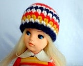 Sindy Hat Jumper and Jeans Striped Alpaca Wool Beanie Style