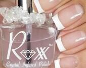 Herkimer Diamond Polish - Base/Top Coat - Meditation - Quiet the Mind  Crystal Infused Nail Polish - Vegan - Crystal Energy