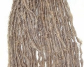 Handspun Yarn Natural Undyed Wool Bulky Lock Spun 54 yards nut brown