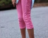 Peony Leggings 12m-8 PDF sewing pattern, knit pant sewing pattern, capri legging sewing, shorts sewing pattern, knit contrast sewing pattern