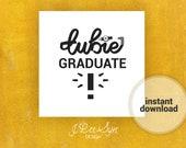Tubie Graduate Sign, Feeding Tube Graduate Sign