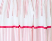 Curtains wide stripes Pink 140 x 240 cm