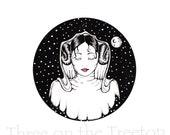 Star wars fan art, princess leia art, princess leia graphic art, leia organa, fan art, star wars, a new hope art, anh, ink art print