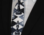 Chess Tie – Mens Chess Themed Necktie