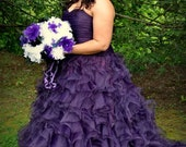 Purple Wedding Dress, Purple Bridal Gown, Purple Wedding Gown, Plus Size Purple Wedding Dress