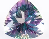 Wholesale Natural Treated Mystic Topaz 12 x 12 x 7.7mm Trillion Faceted AA Quality Loose Stone 7.0ct